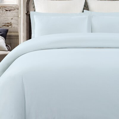 Krushap Vintage 3 Piece Duvet Set Color: Blue, Size: Queen