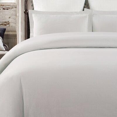 Krushap Vintage 3 Piece Duvet Set Color: Dove Gray, Size: King