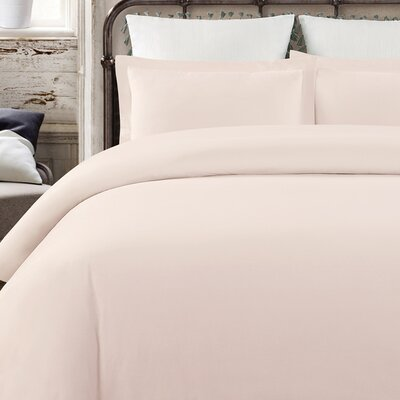 Krushap Vintage 3 Piece Duvet Set Color: Blush, Size: Queen
