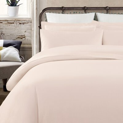 Krushap Vintage 200 Thread Count 100% Cotton Sheet Set Size: Full/Double, Color: Blush