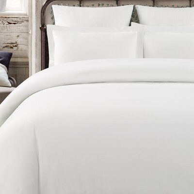 Krushap Vintage 3 Piece Duvet Set Color: White, Size: Queen