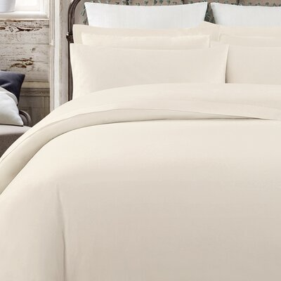 Krushap Vintage 200 Thread Count 100% Cotton Sheet Set Size: Full/Double, Color: Natural