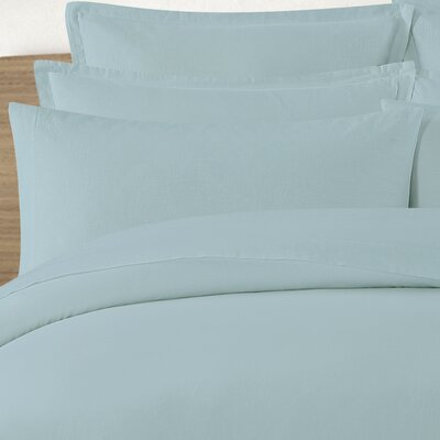 Tarek Washed Pillow Case Color: Slate Blue