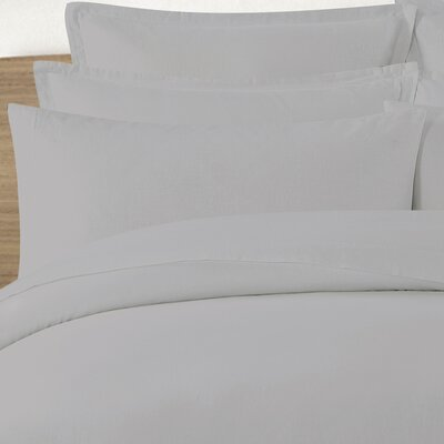 Tarek Washed Pillow Case Color: Gray