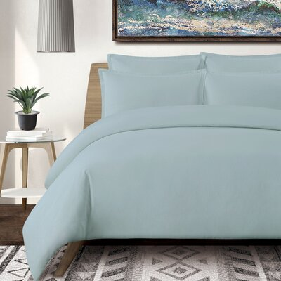 Tarek 3 Piece Duvet Set Color: Slate Blue, Size: Queen