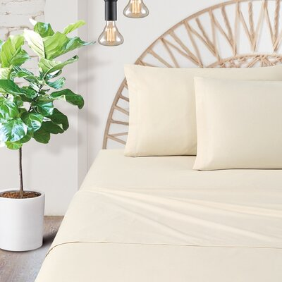 Watts 200 Thread Count 100% Cotton Sheet Set Size: Full
