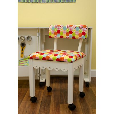 Sewing Underseat Storage Side Chair Upholstery: White