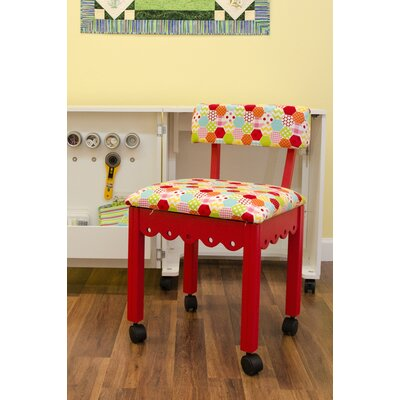 Sewing Underseat Storage Side Chair Upholstery: Red