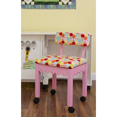 Sewing Underseat Storage Side Chair Upholstery: Pink