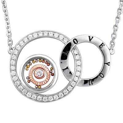DeBuman Two-Tone Sterling Silver Eternity Gemstone Necklace