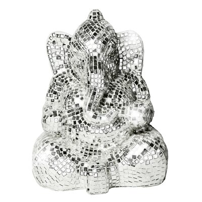 Mosaic Seated Ganesh Figurine Color: Clear