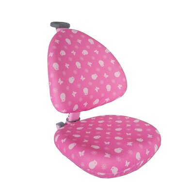 Desk Chair Slipcover Upholstery: Pink