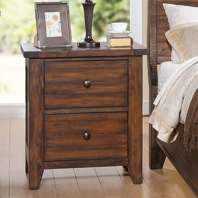 Cally 2 Drawer Nightstand