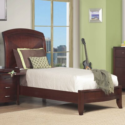 Image of Brighton Twin Size Low Profile Sleigh Bed in Cinnamon (MO3194)