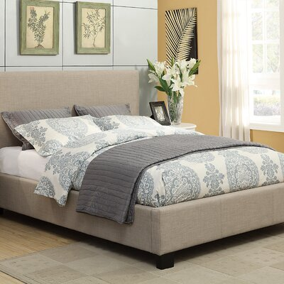 Simone Upholstered Platform Bed Size: King