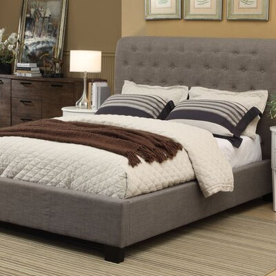 Geneva Upholstered Sleigh Headboard Size: Queen