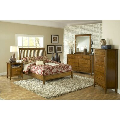 Modus City II Rake Slat Bed - Size: California King, Finish: Pecan at Sears.com