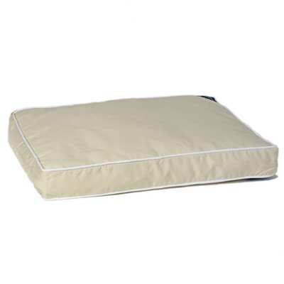 "Classic Memory Foam Dog Pillow Size: Large (36"" L x 23"" W), Color: Khaki"