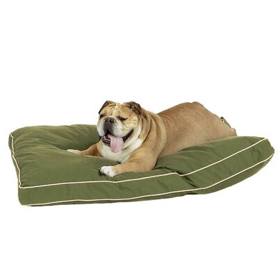 "Classic Memory Foam Dog Pillow Size: Medium (30"" L x 20"" W), Color: Olive Green"