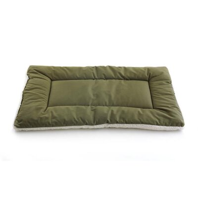 Plush Sleep-ezz Lightweight Dog Bed Crate Pad Color: Olive, Size: Small (24 L x 18 W)