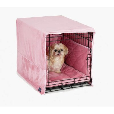 Plush Cratewear 3 Piece Dog Bedding Set Color: Pink, Size: Large: 23 W x 36 D