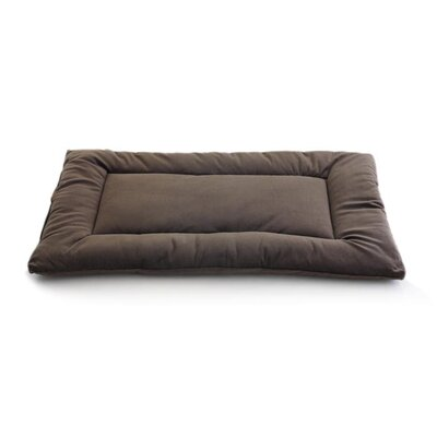 Plush Sleep-ezz Lightweight Dog Bed Crate Pad Color: Cocoa Brown, Size: Small (24 L x 18 W)