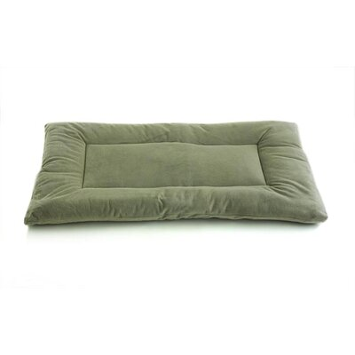 Plush Sleep-ezz Lightweight Dog Bed Crate Pad Color: Sage Green, Size: Large (36 L x 23 W)