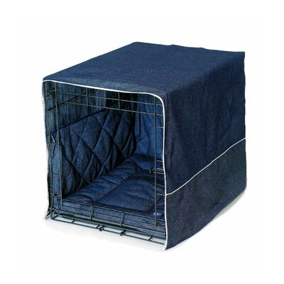 Classic Cratewear 3 Piece Crate Dog Bedding Set Size: Medium: 20 W x 30 D, Color: Denim