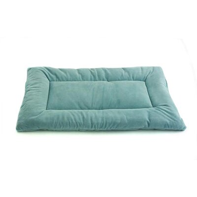 Plush Sleep-ezz Lightweight Dog Bed Crate Pad Color: Sea Foam Blue, Size: Large (36 L x 23 W)