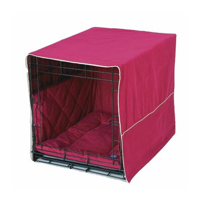 Classic Cratewear 3 Piece Crate Dog Bedding Set Size: Large: 23 W x 36 D, Color: Burgundy