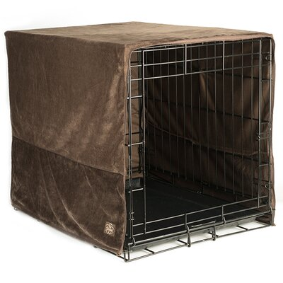 Pet Dreams Crate Cover Size: Medium, Color: Cocoa Brown