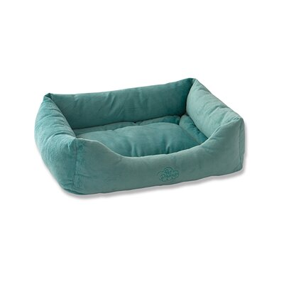 2 in 1 Plush Bumper Bolster Color: Seafoam Blue, Size: Large (24 W x 36 D)