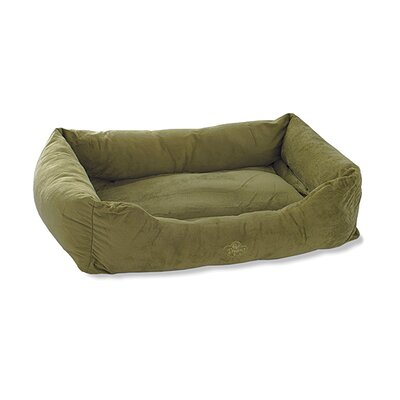 2 in 1 Plush Bumper Bolster Size: Medium (21 W x 30 D), Color: Sage Green