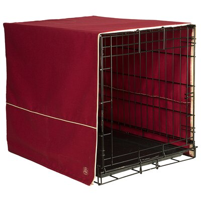 Crate Cover Color: Burgundy, Size: 21 H x 18 W x 24 D