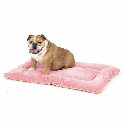 "Plush Sleep-ezz Dog Mat Color: Dusty Pink, Size: X-Large (42"" L x 28"" W)"