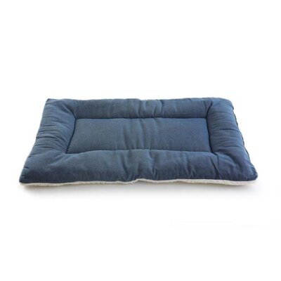 Plush Sleep-ezz Lightweight Dog Bed Crate Pad Color: Denim, Size: XX-Large (48