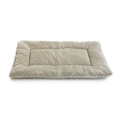 Plush Sleep-ezz Lightweight Dog Bed Crate Pad Color: Khaki, Size: Small (24 L x 18 W)