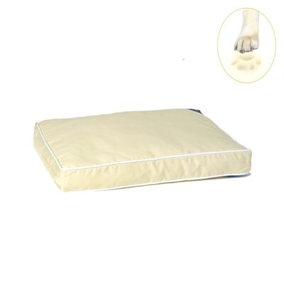 Ultra Bliss Memory Foam Dog Bed Size: Small - 24 L x 18 W, Color: Khaki