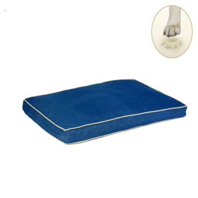 Ultra Bliss Memory Foam Dog Bed Size: Large - 36 L x 23 W, Color: Denim