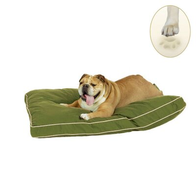 Ultra Bliss Memory Foam Dog Bed Size: Large - 36 L x 23 W, Color: Olive Green