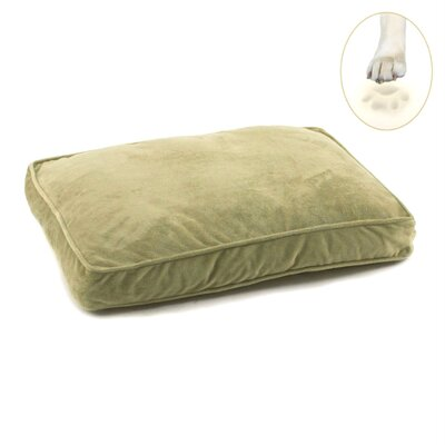 Ultra Bliss Memory Foam Dog Bed Size: Large - 36 L x 23 W, Color: Sage Green