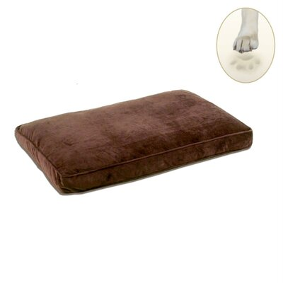 Ultra Bliss Memory Foam Dog Bed Size: Small - 24 L x 18 W, Color: Coco Brown
