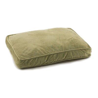 "Plush Orthopedic Dog Pillow Size: Medium (30"" L x 20"" W), Color: Sage Green"