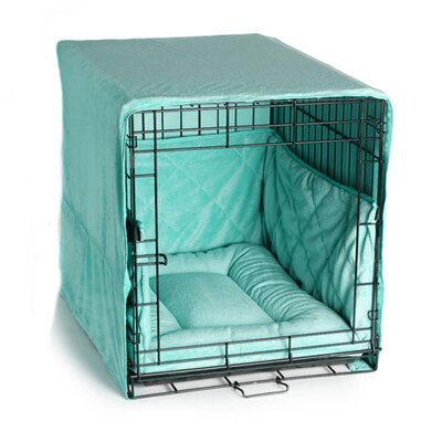 Plush Cratewear 3 Piece Dog Bedding Set Size: Small: 18 W x 24 D, Color: Seafoam Blue