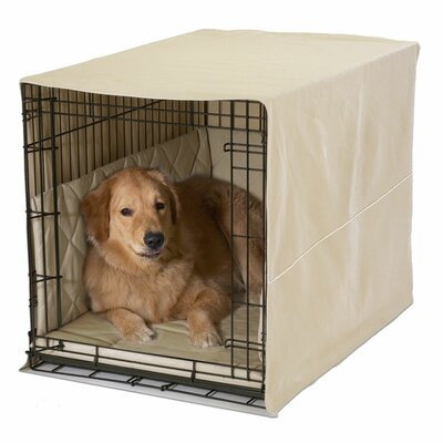 Classic Cratewear 3 Piece Crate Dog Bedding Set Size: Medium: 20 W x 30 D, Color: Khaki