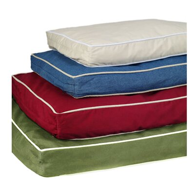 Ultra Bliss Pet Dreams Memory Foam Dog Bed Duvet Cover Size: Large, Color: Burgundy