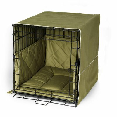 Classic Cratewear 3 Piece Crate Dog Bedding Set Size: X-Large: 28 W x 42 D, Color: Olive Green