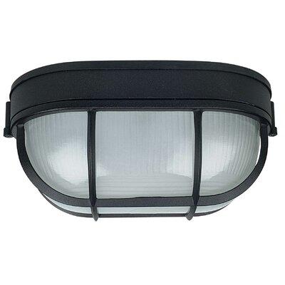 1-Light Flush Mount Finish: Black, Size: 11 x 6.63