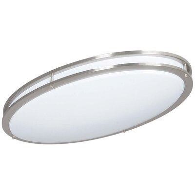 1-Light Flush Mount Finish: Bright Satin Nickel