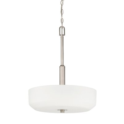 Quartz 3-Light Bowl Pendant Base Finish: Bright Satin Nickel